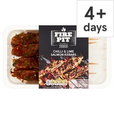 Tesco 4 Chilli And Lime Salmon Kebabs 177G