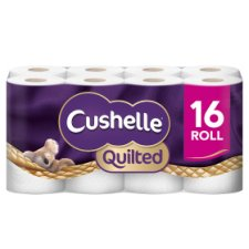Cushelle Quilted White Rolls 16 Pack
