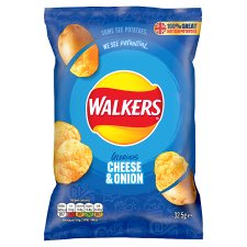 Walkers Cheese And Onion Crisps 32.5 G