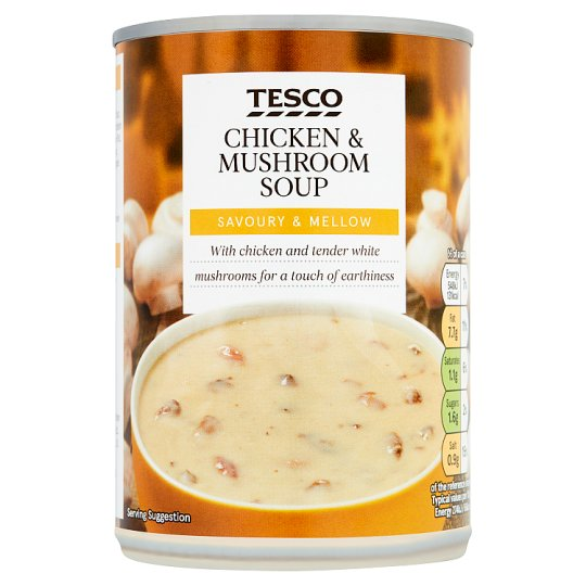 Tesco Cream Of Chicken And Mushroom Soup 400G