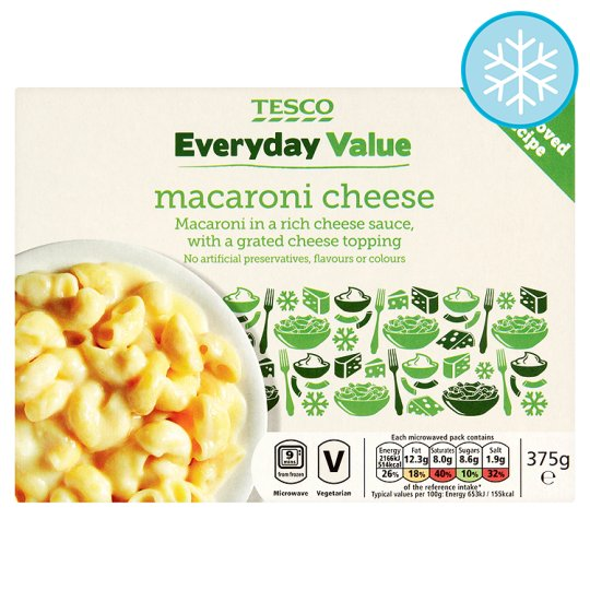 Tesco Everyday Value Macaroni Cheese 375G