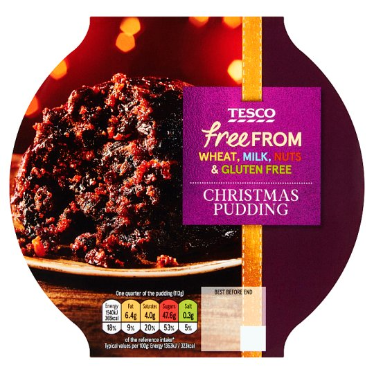 Tesco Free From Christmas Pudding 454G