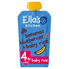 Ella's Bananas Blueberries Baby Rice Stage1 120G