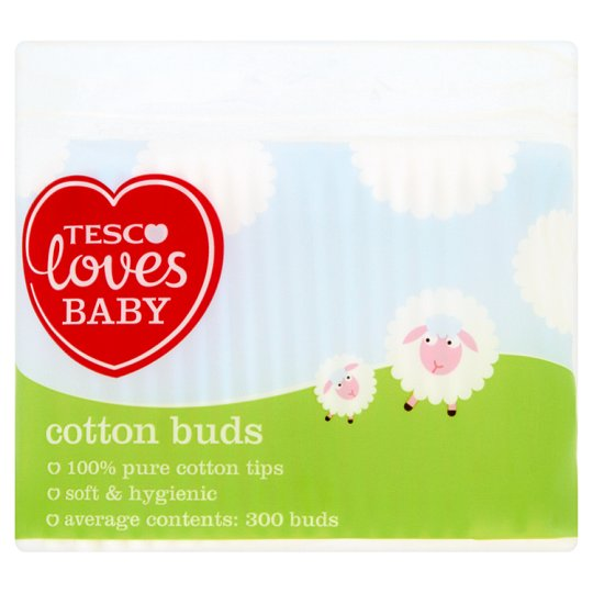 Tesco Loves Baby Cotton Buds 300 Pack