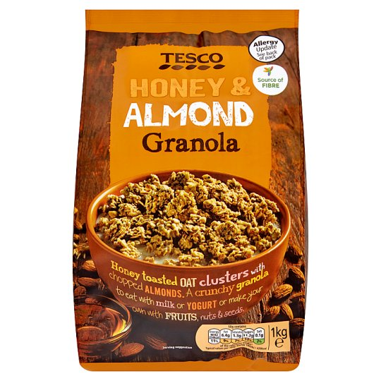 Tesco Honey And Almond Granola 1Kg
