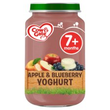 Cow & Gate Stage 2 Apple And Blueberry Yogurt 200G Jar