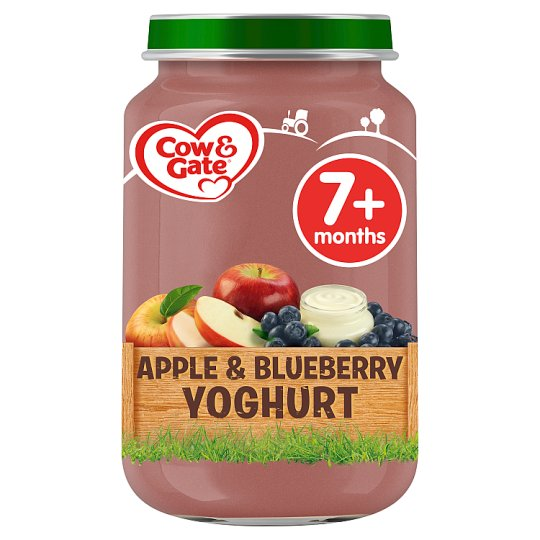 image 1 of Cow & Gate Stage 2 Apple And Blueberry Yogurt 200G Jar