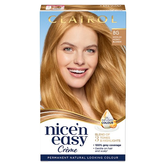 Clairol Nice 'N Easy Medium Honey Blonde 8G Hair Dye