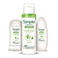 image 2 of Simple Soothing Roll On Deodorant 50Ml