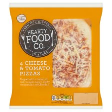 Hearty Food Co 4 Cheese And Tomato Pizza 456G