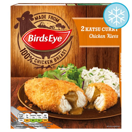 Birds Eye 2 Katsu Curry Saucy Chicken 204G
