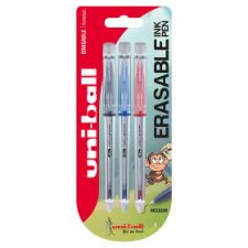 image 1 of Uniball Erasable Rollerball Red Black Blu 3 Pack