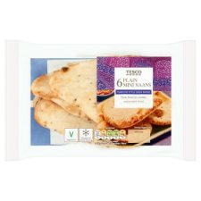 Tesco Plain Mini Naan 6 Pack
