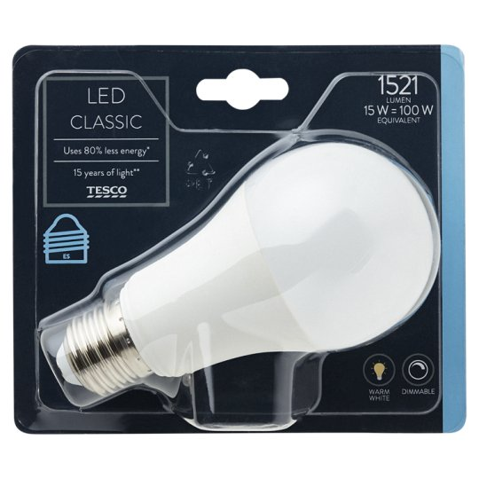image 1 of Tesco Led Classic 100W Edison Screw Dimmable