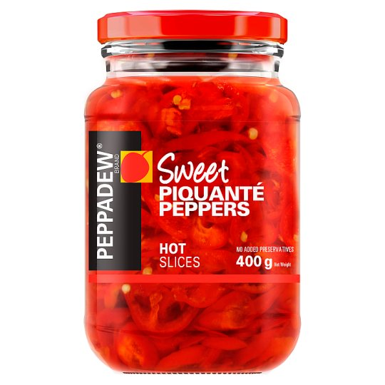 Peppadew Sweet Piquante Peppers Hot Slices 400G
