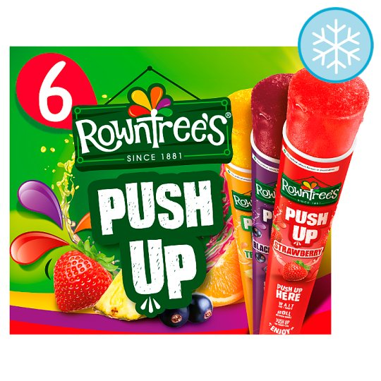 Rowntrees Fruit Pastille Push Up Lollies 6 X 80Ml