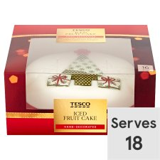 Tesco Fully Iced Fruit Cake 907G