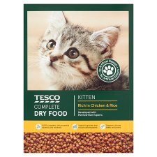 Tesco Kitten Complete Chicken Dry 500G