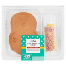 Tesco Decorate Your Own Gingerbread Chicks 5 Pack
