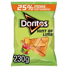 Doritos Hint Of Lime Chips 230G