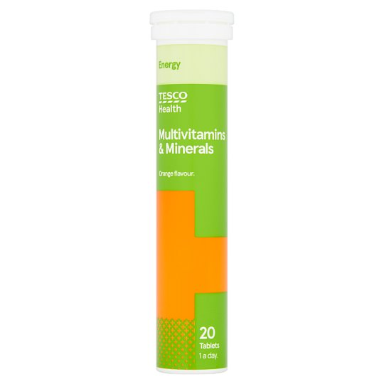 Tesco B Active Effervescent Vitamins And Min 20S