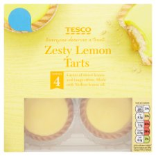 Tesco Zesty Lemon Tarts 4 Pack