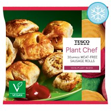 Tesco Plant Chef Meat Free Sausage Rolls 600G