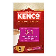 image 1 of Kenco 3 In 1 Instant Smooth White Coffee 5 Sachet 100G