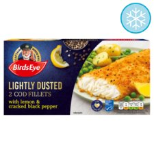 Birds Eye Lightly Dusted Lemon And Pepper Cod Fillets 280G