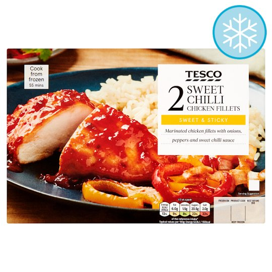 Tesco 2 Sweet Chilli Chicken Fillets 440G