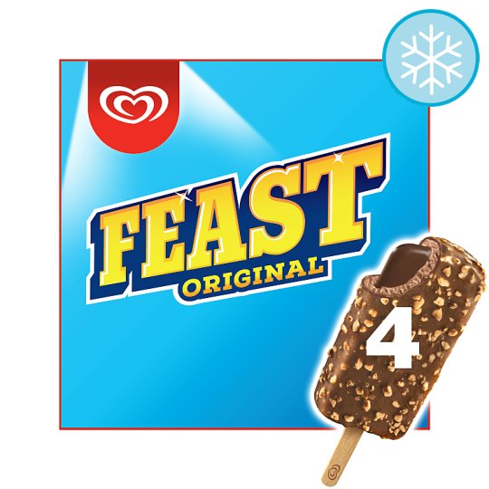 image 1 of Feast Chocolate Ice Cream 4 X 90Ml