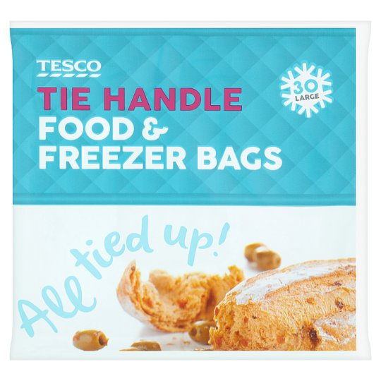 Tesco Tie-Handle Freezer Bags Large 25'S