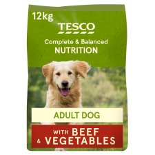 Tesco Beef And Vegetable Dry Dog Food 12Kg