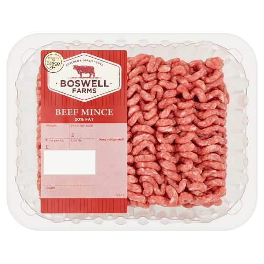 Boswell Farms Beef Mince 500G 20% Fat