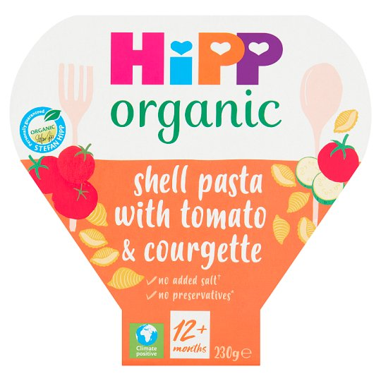 Hipp Organic Pasta With Juicy Tomatoes And Courgette 260G