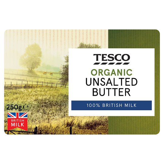Tesco Organic Unsalted Butter 250G