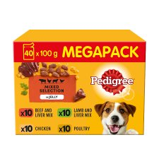 image 1 of Pedigree Jelly Dog Food Pouches 40 Pack