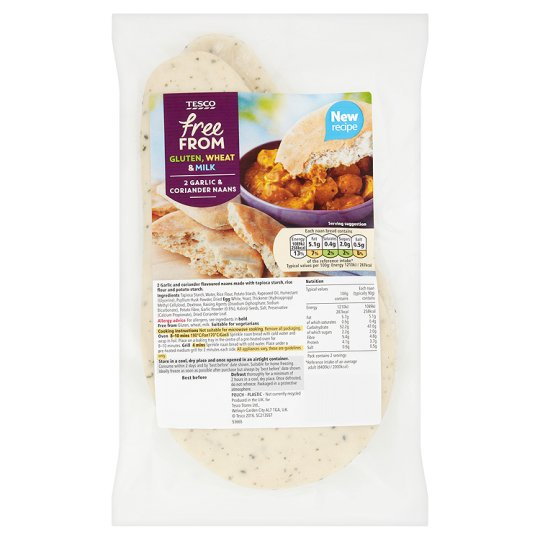 Tesco Free From Garlic And Corr Naan Bread