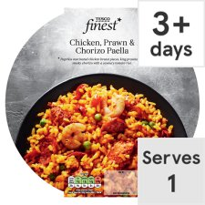 Tesco Finest Chicken Prawn And Chorizo Paella 475G