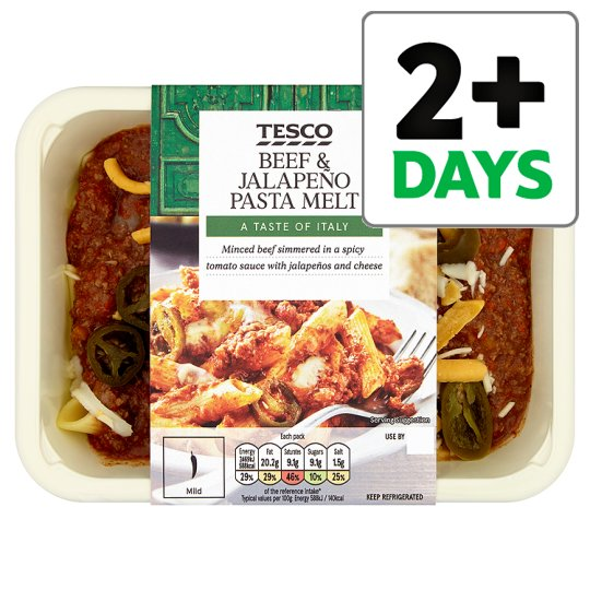 Tesco Italian Spicy Beef And Jalapeno Melt 450G