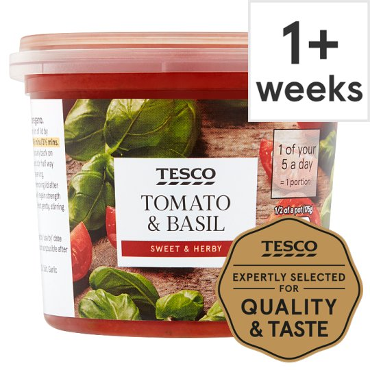 Tesco Tomato And Basil Sauce 350G