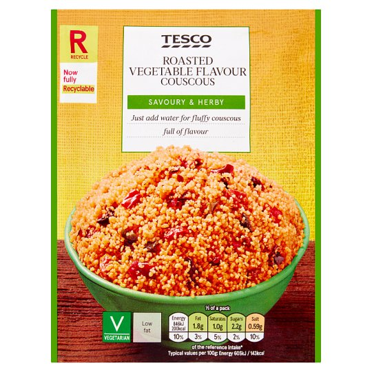 Tesco Roasted Vegetable Flavour Couscous 110G