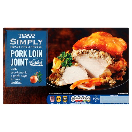 Tesco Simply Roast Pork Loin Joint 900G