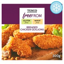 Tesco Free From Breaded Chicken Goujons 300G
