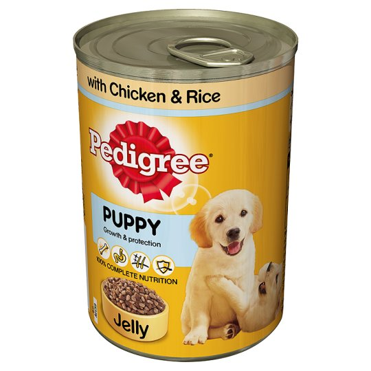 Pedigree Puppy Cuts In Jelly Chicken And Rice 400G
