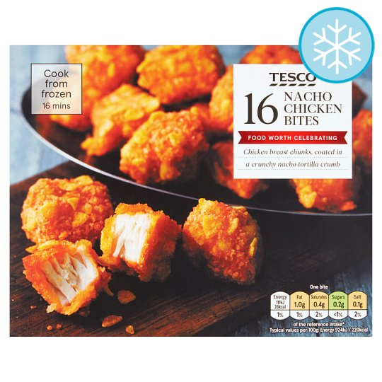 Tesco 16 Nacho Chicken Bites 200G