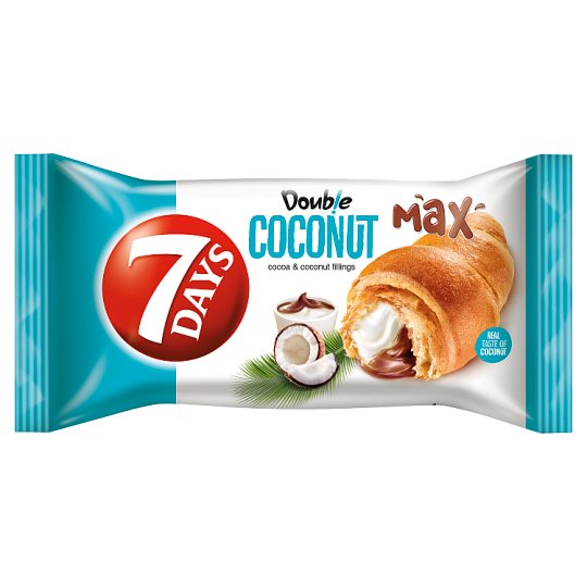 7Days Croissant Double Coconut With Cocoa And Coconut Cream 80G