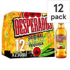 Desperados Tequila Flavoured Beer 12X250ml