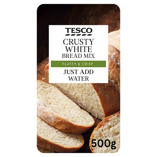 Tesco Crusty White Farmhouse Bread Mix 500G