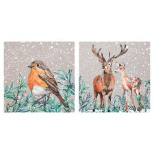 Tesco Frosted Forest Kraft Woodland Cards 10 Pack